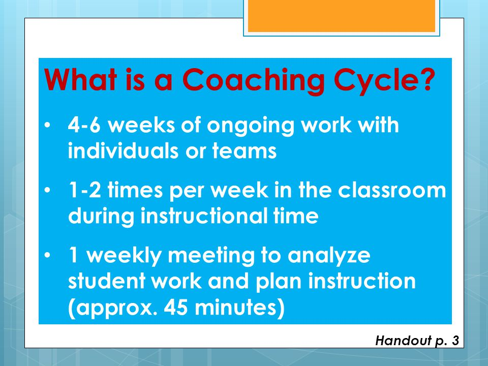 What is a Coaching Cycle