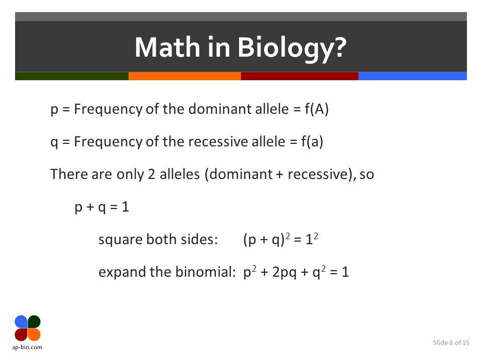 Math in Biology