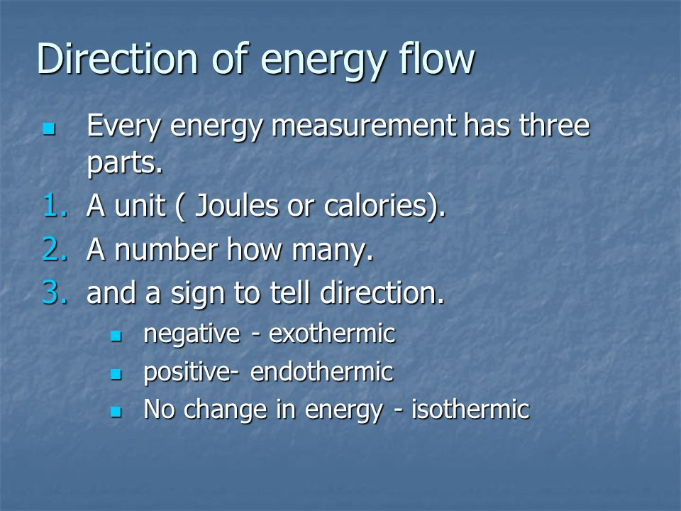 Direction of energy flow