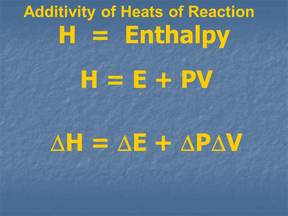 Additivity of Heats of Reaction