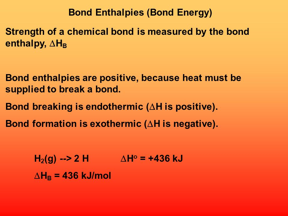 Bond Enthalpies (Bond Energy)
