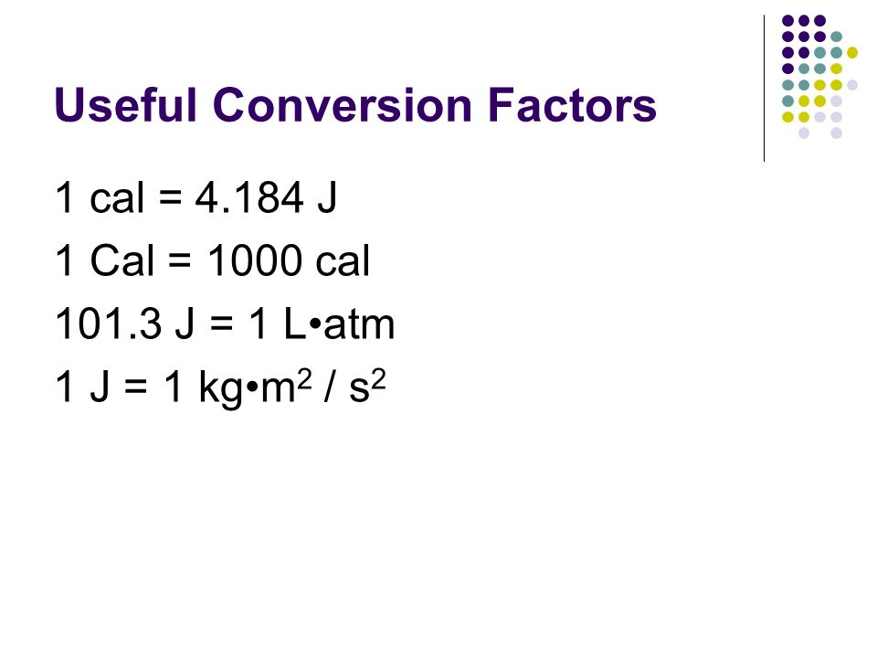 Useful Conversion Factors