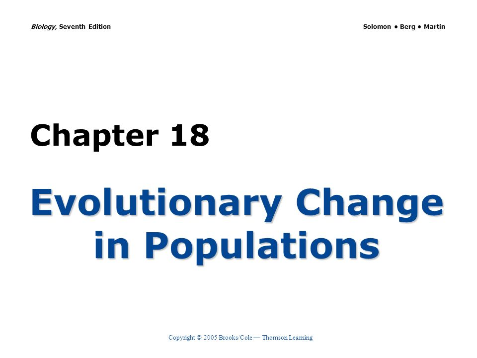 Evolutionary Change in Populations