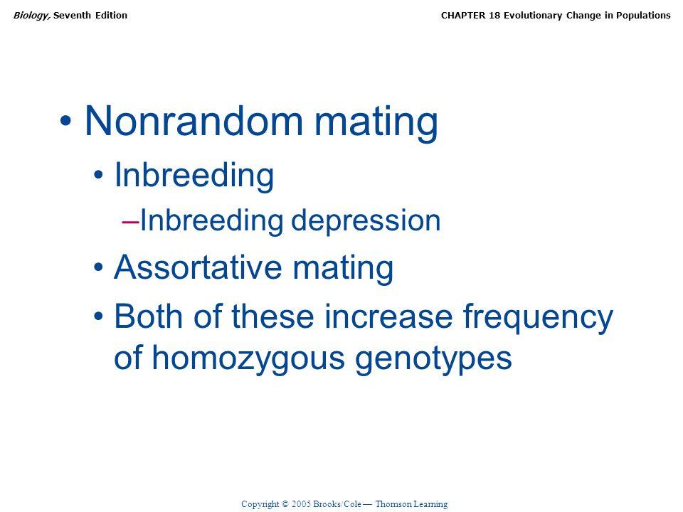 Nonrandom mating Inbreeding Assortative mating