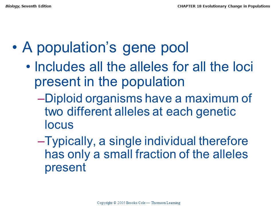 A population's gene pool