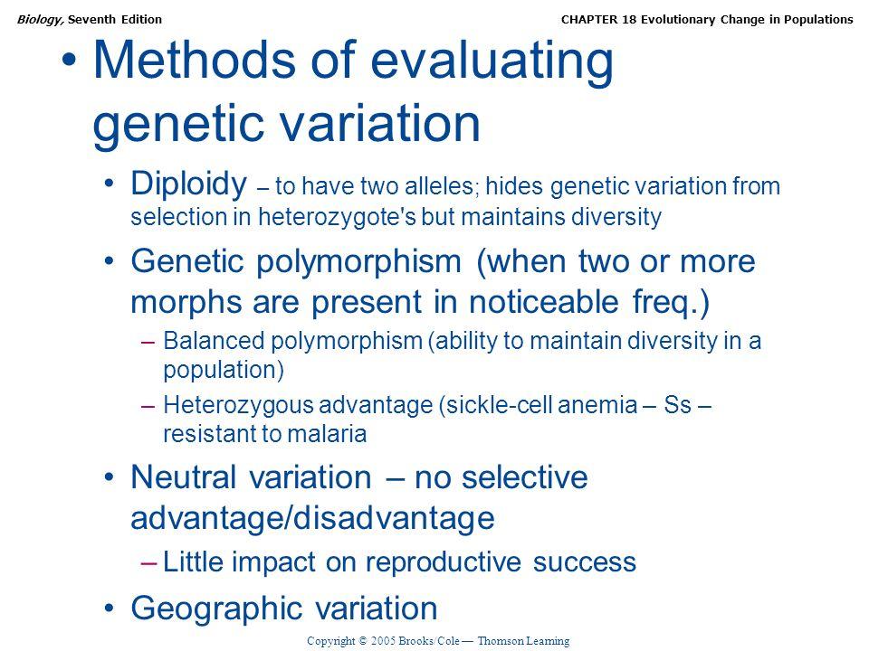 Methods of evaluating genetic variation