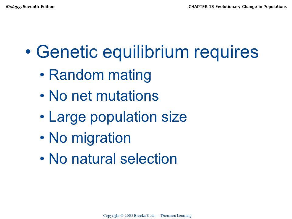 Genetic equilibrium requires