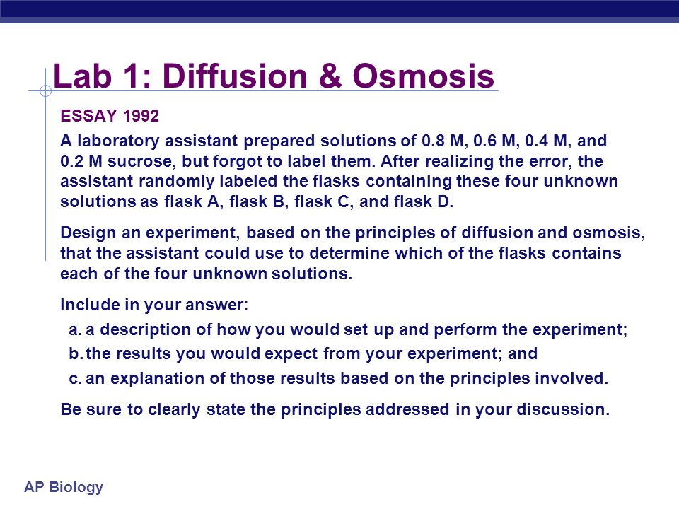 Osmosis and Diffusion Lab for AP Bio (2)