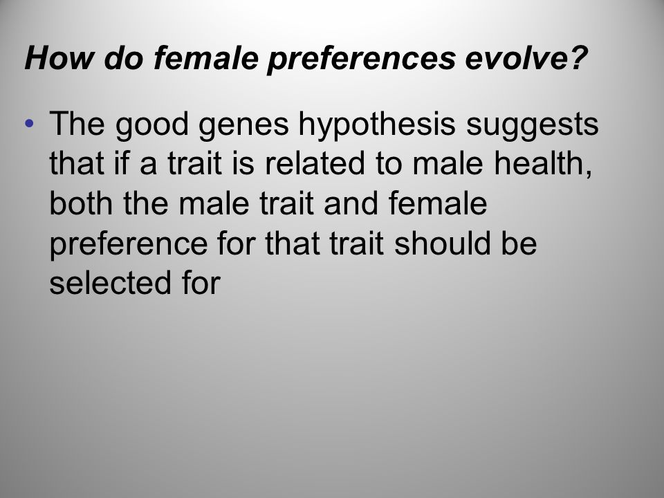 How do female preferences evolve