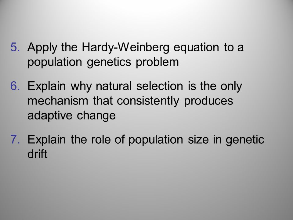 Apply the Hardy-Weinberg equation to a population genetics problem