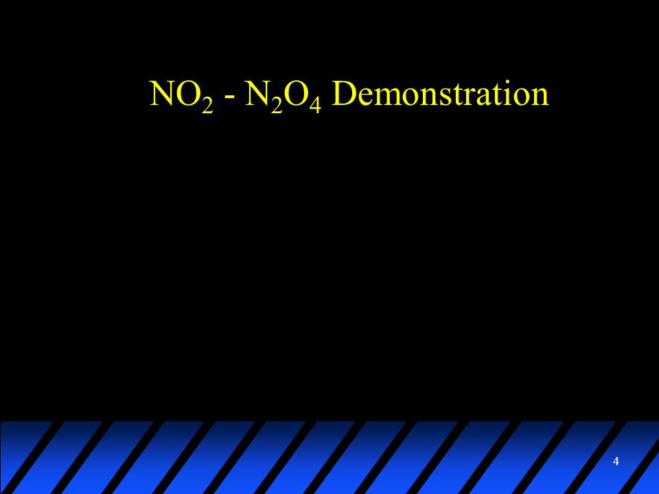 NO2 - N2O4 Demonstration