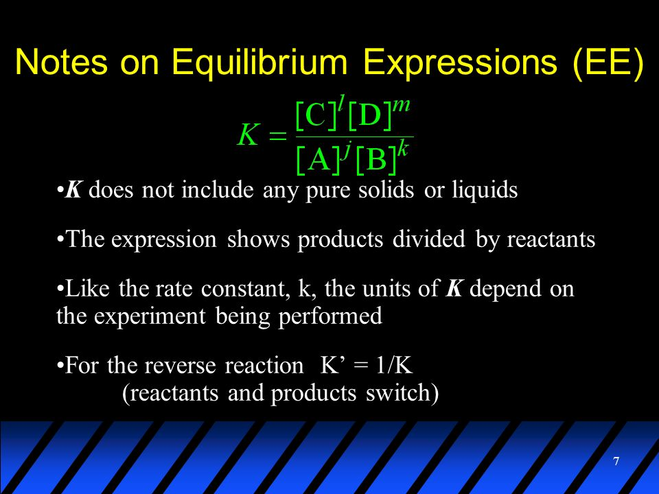 Notes on Equilibrium Expressions (EE)
