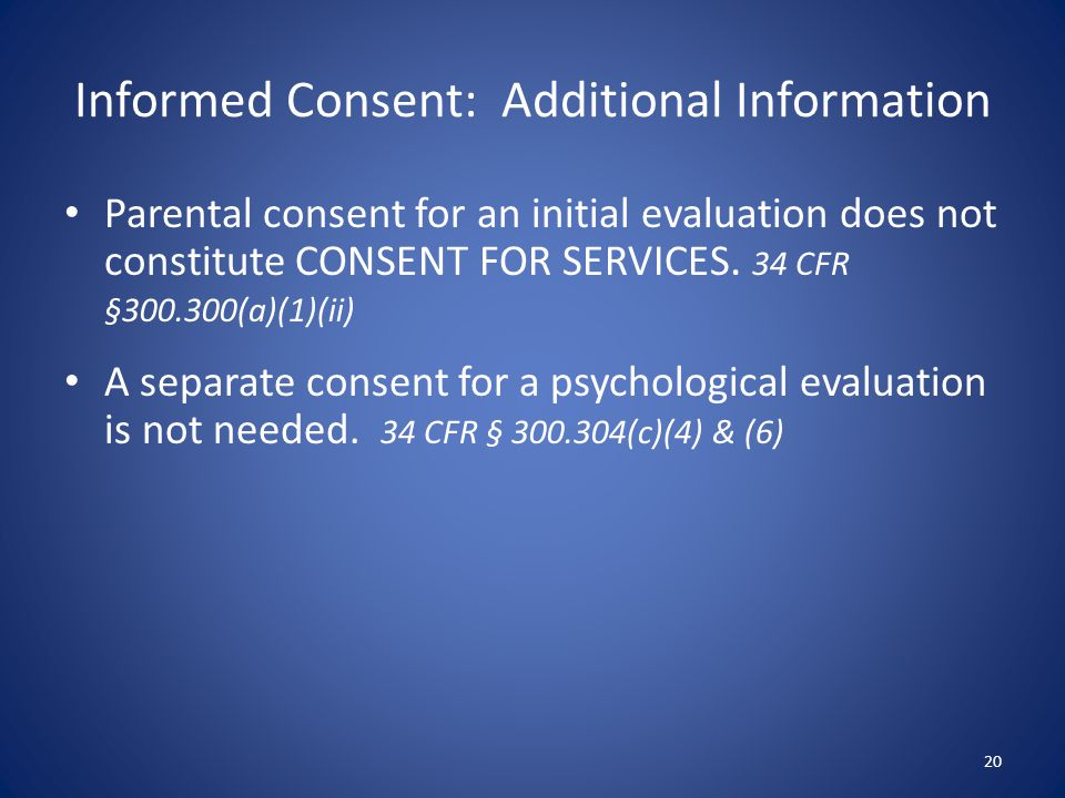 Informed Consent: Additional Information