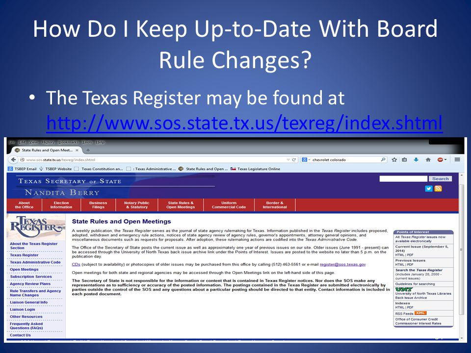 How Do I Keep Up-to-Date With Board Rule Changes