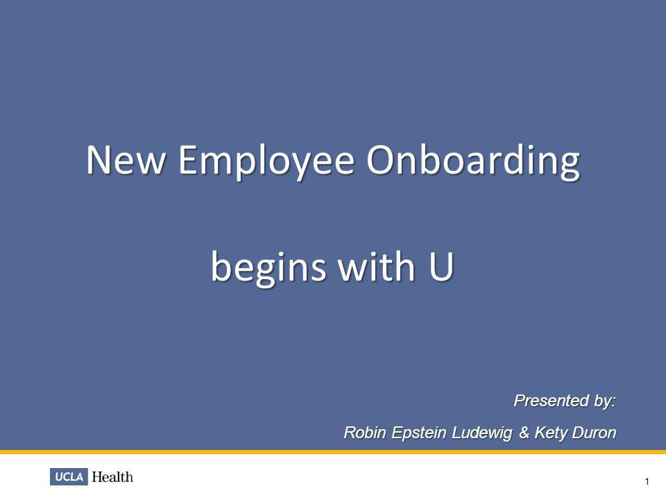 New Employee Onboarding begins with U