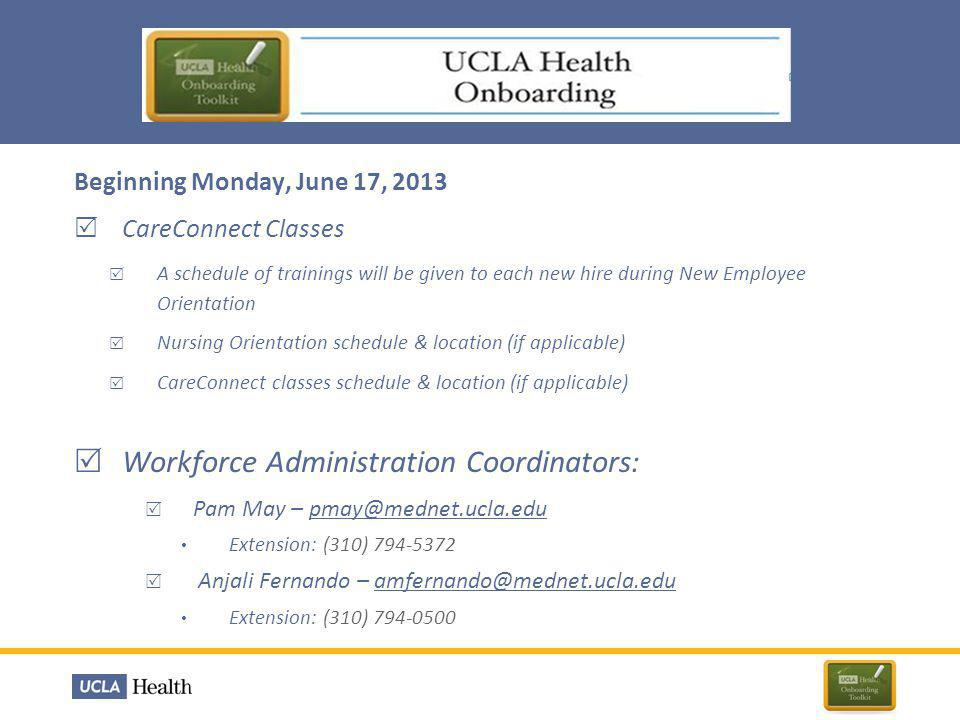 Workforce Administration Coordinators: