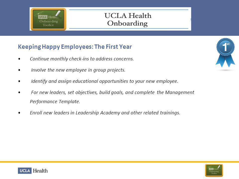 Keeping Happy Employees: The First Year