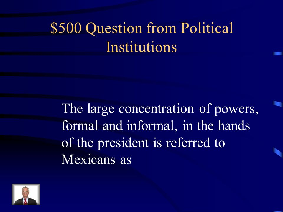 $500 Question from Political Institutions