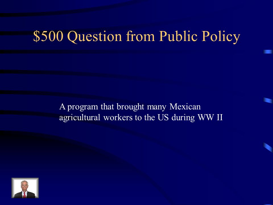 $500 Question from Public Policy