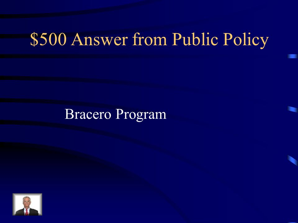 $500 Answer from Public Policy