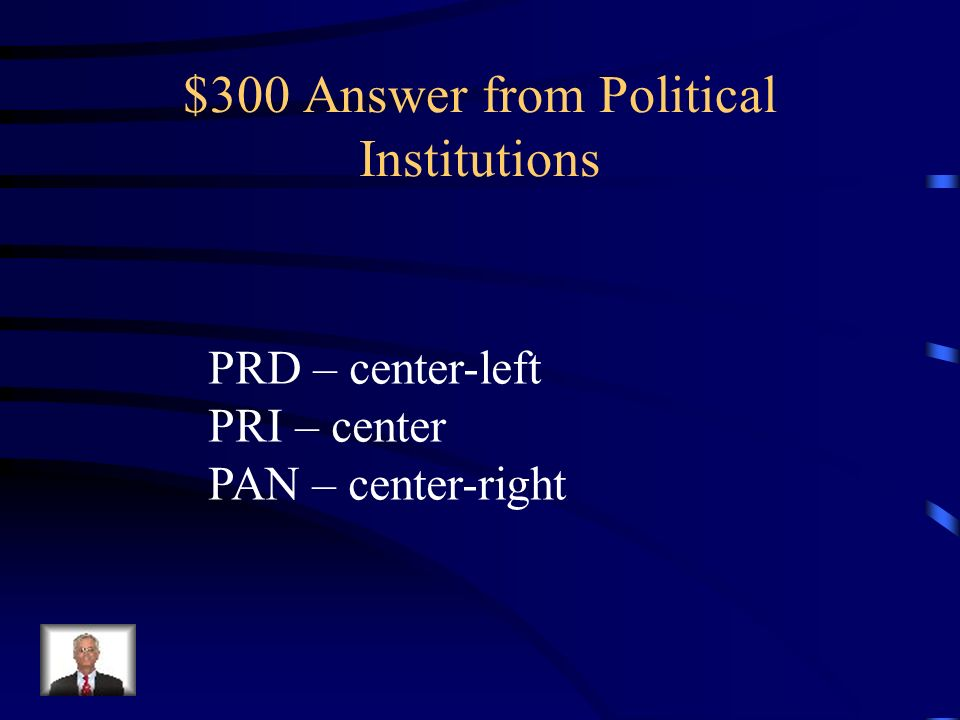 $300 Answer from Political Institutions