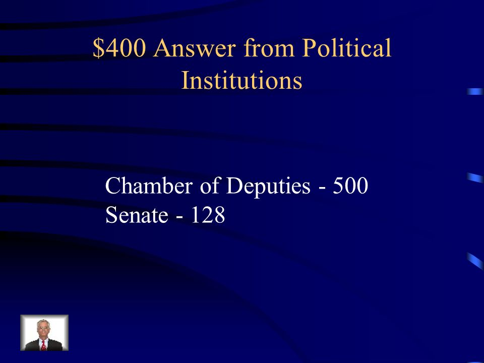 $400 Answer from Political Institutions