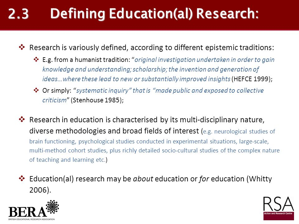 Defining Education(al) Research: