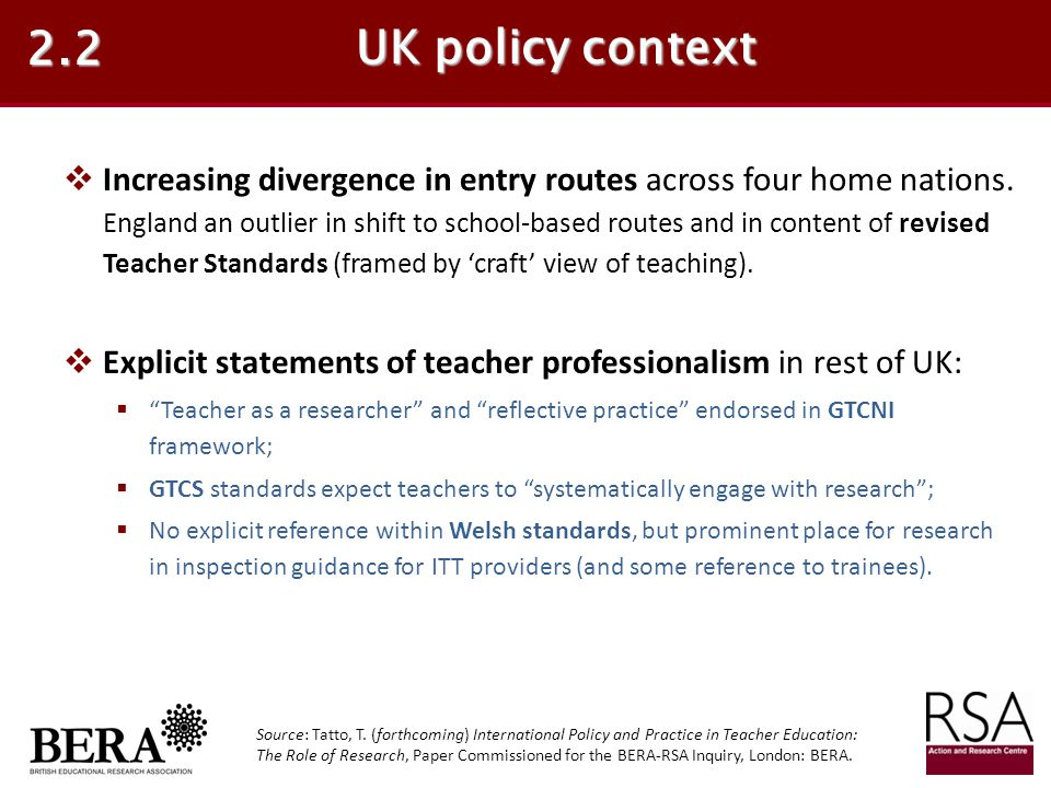 2.2 UK policy context.