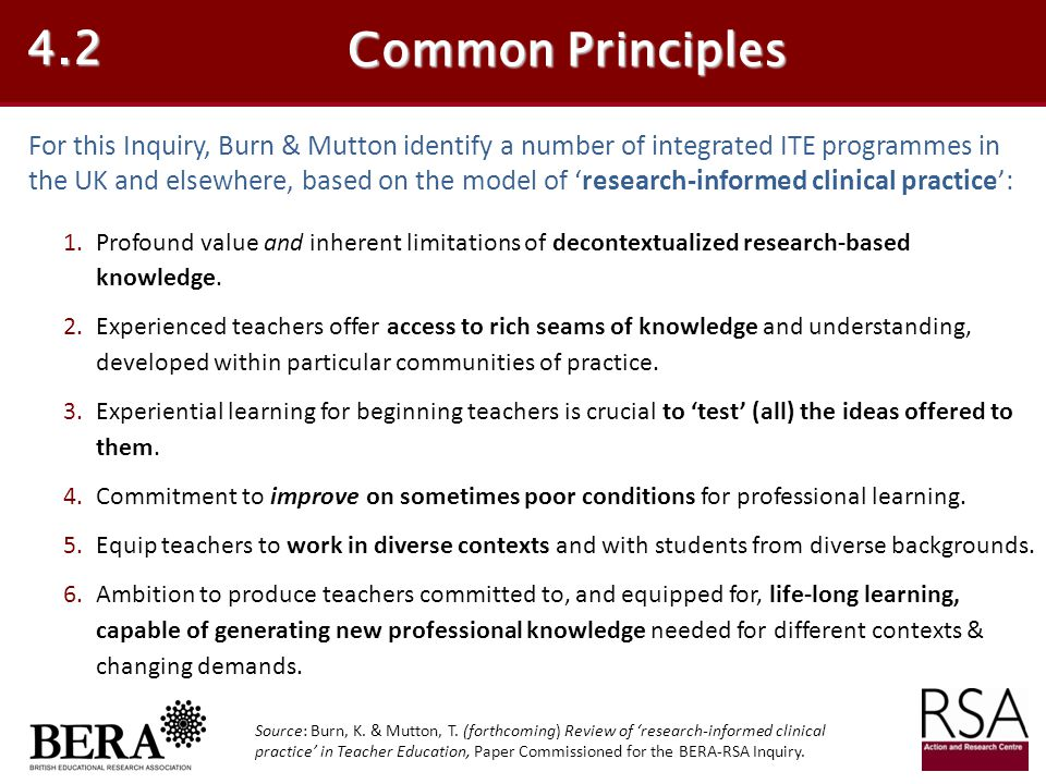 4.2 Common Principles.