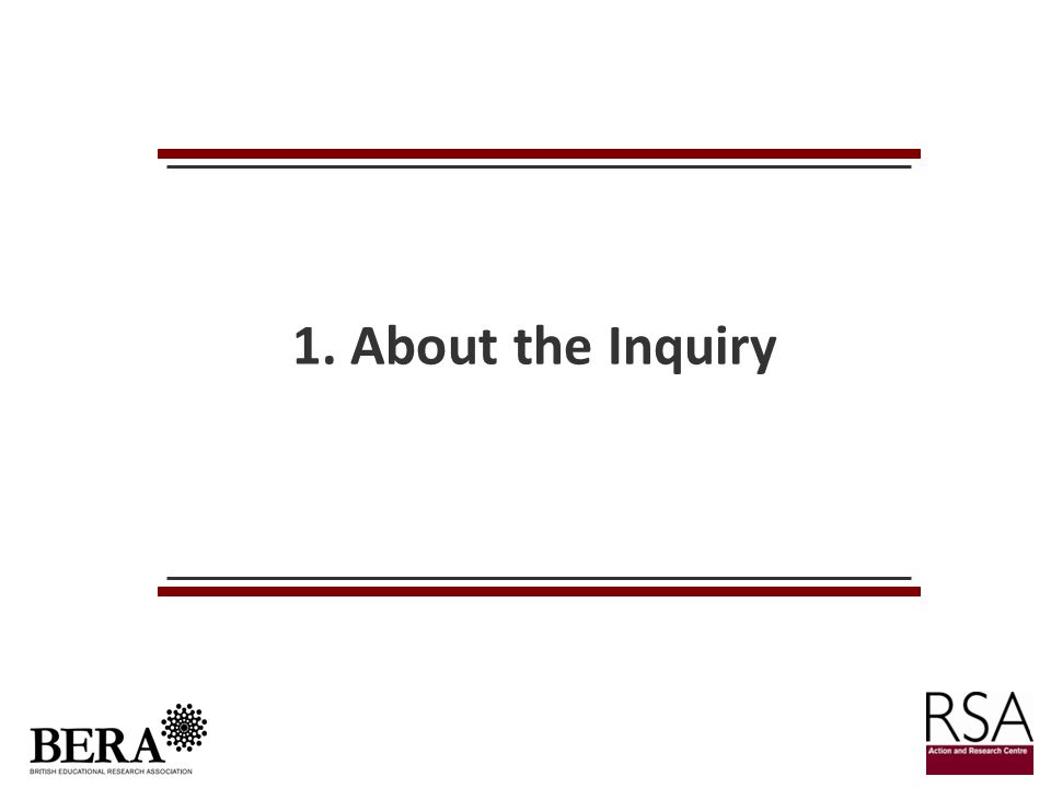 1. About the Inquiry