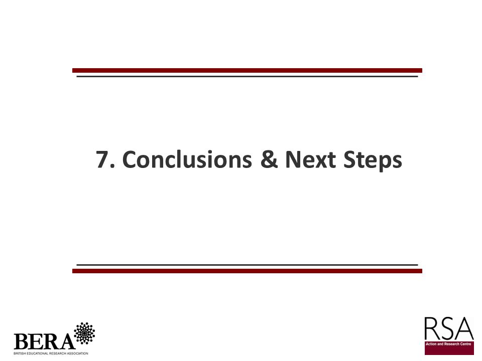 7. Conclusions & Next Steps