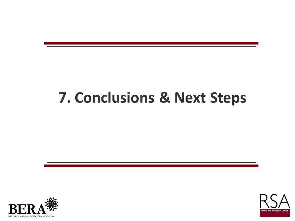 7. Conclusions & Next Steps