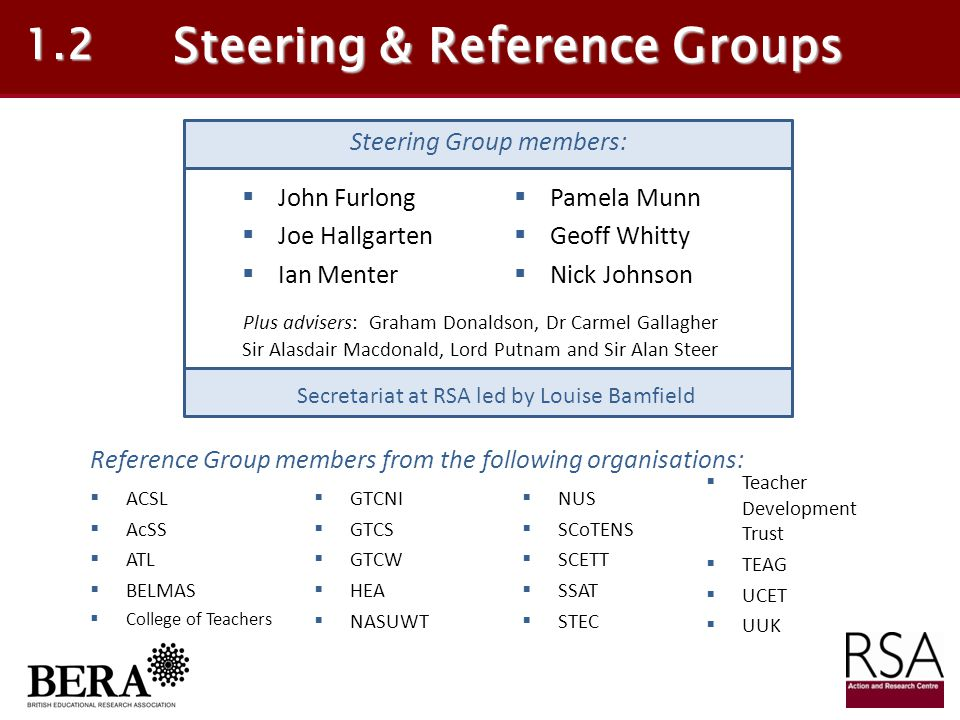 Steering & Reference Groups