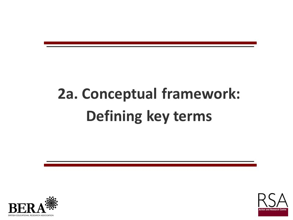 2a. Conceptual framework: Defining key terms