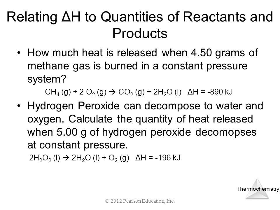 Relating ΔH to Quantities of Reactants and Products