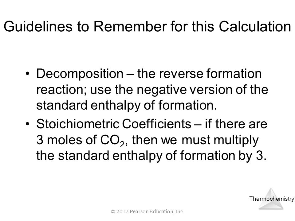 Guidelines to Remember for this Calculation