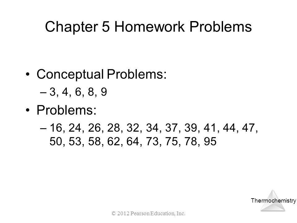 Chapter 5 Homework Problems
