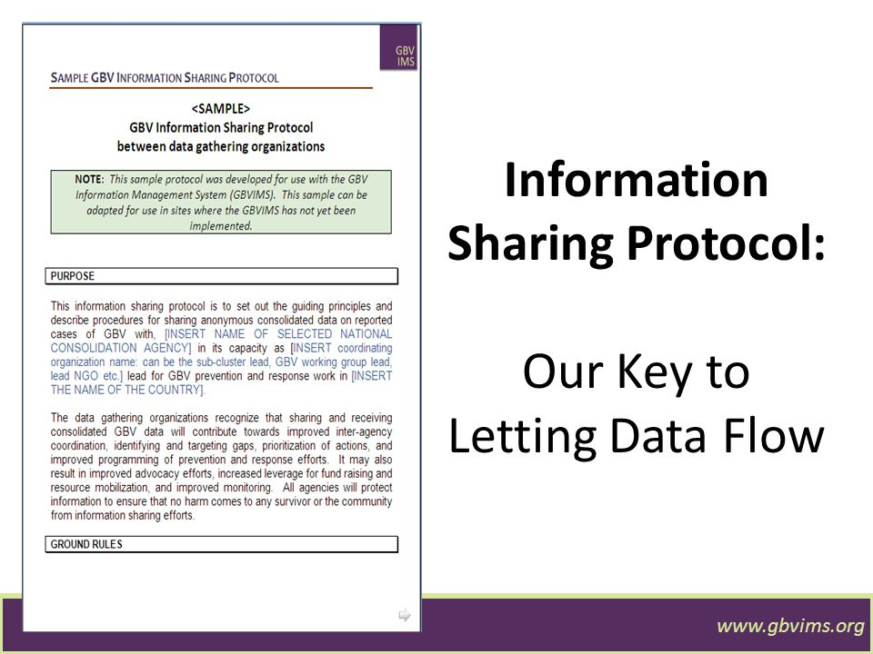 Information Sharing Protocol: Our Key to Letting Data Flow
