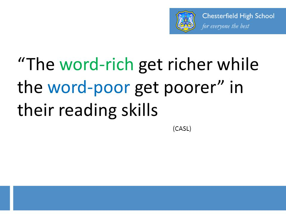 The word-rich get richer while the word-poor get poorer in their reading skills