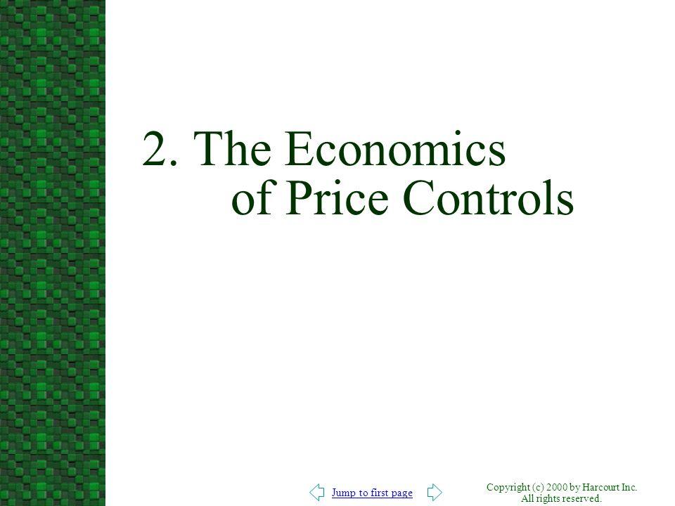 2. The Economics of Price Controls