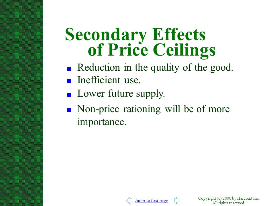 Secondary Effects of Price Ceilings