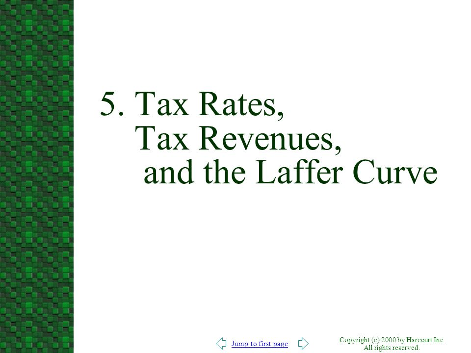 5. Tax Rates, Tax Revenues, and the Laffer Curve