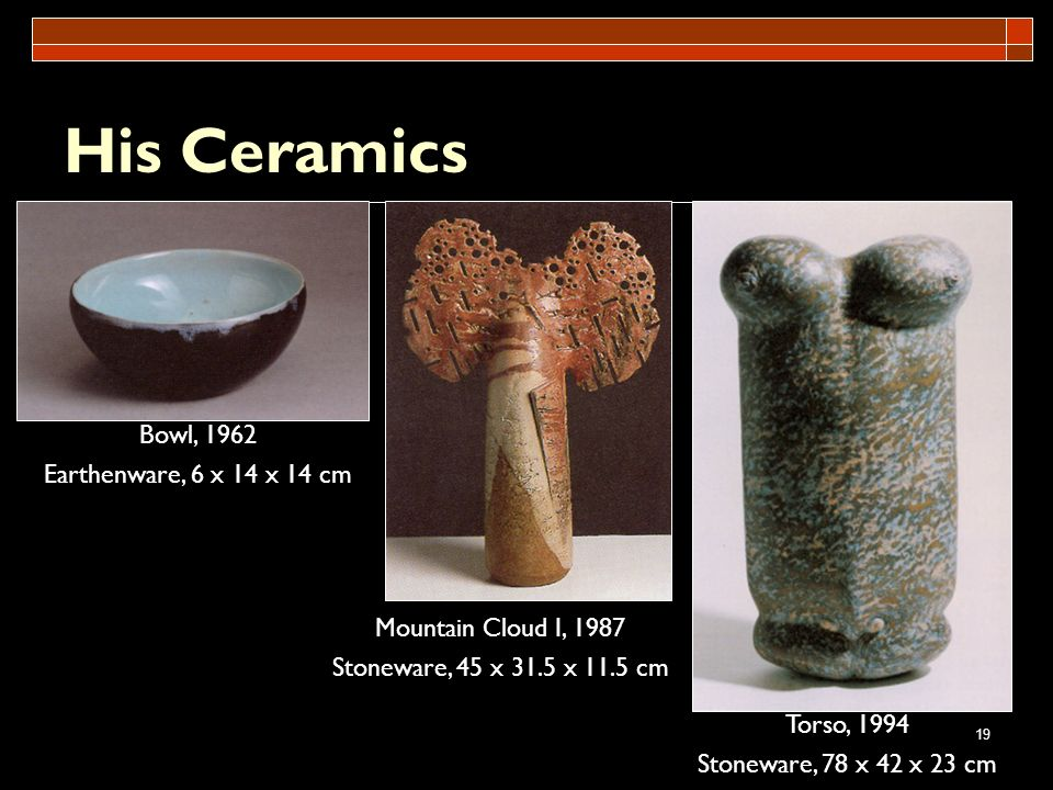 His Ceramics Bowl, 1962 Earthenware, 6 x 14 x 14 cm