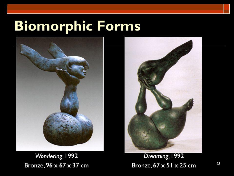 Biomorphic Forms Wondering, 1992 Bronze, 96 x 67 x 37 cm