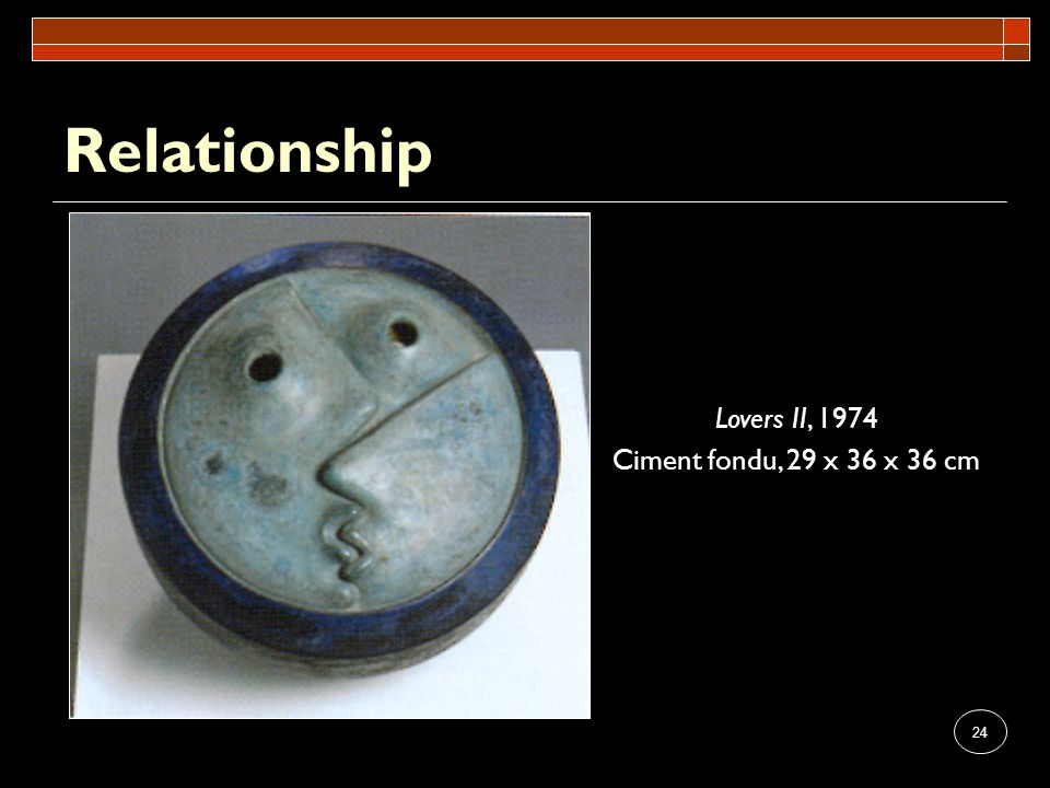 Relationship Lovers II, 1974 Ciment fondu, 29 x 36 x 36 cm
