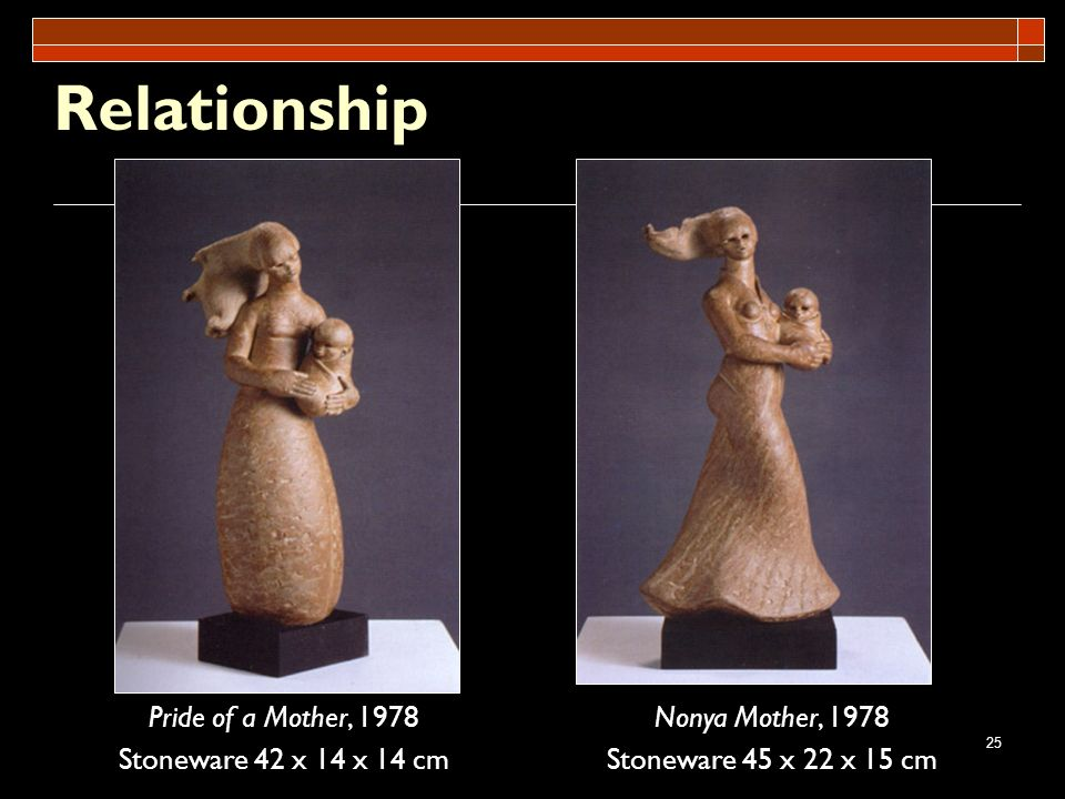 Relationship Pride of a Mother, 1978 Stoneware 42 x 14 x 14 cm