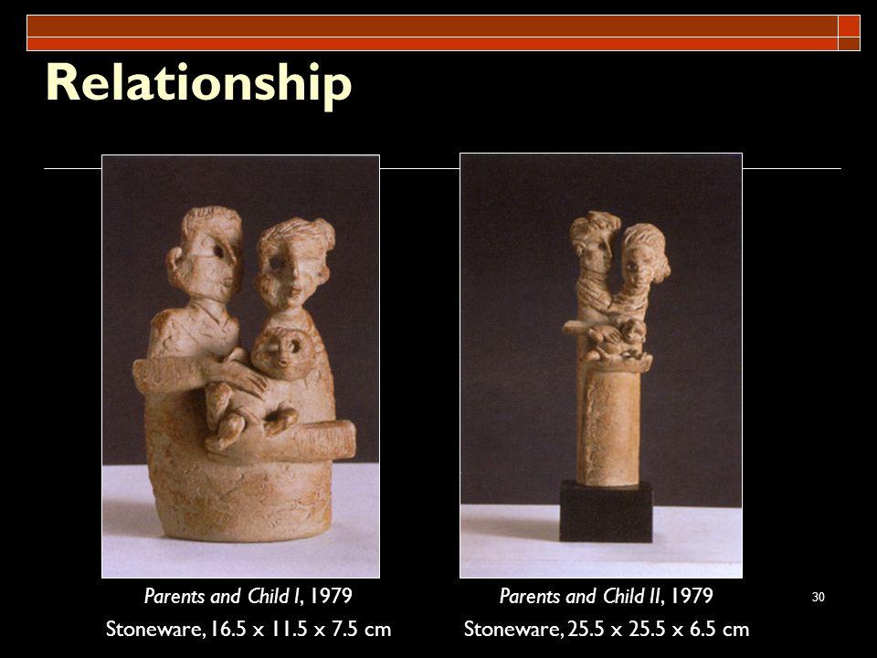Relationship Parents and Child I, 1979 Stoneware, 16.5 x 11.5 x 7.5 cm