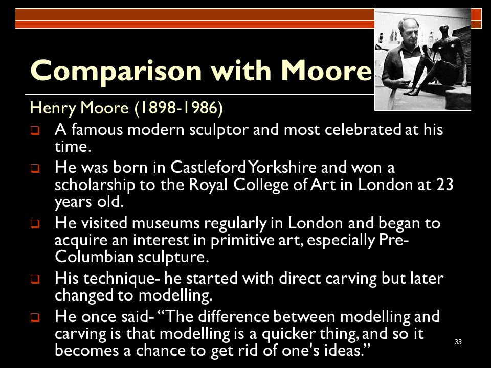 Comparison with Moore Henry Moore (1898-1986)