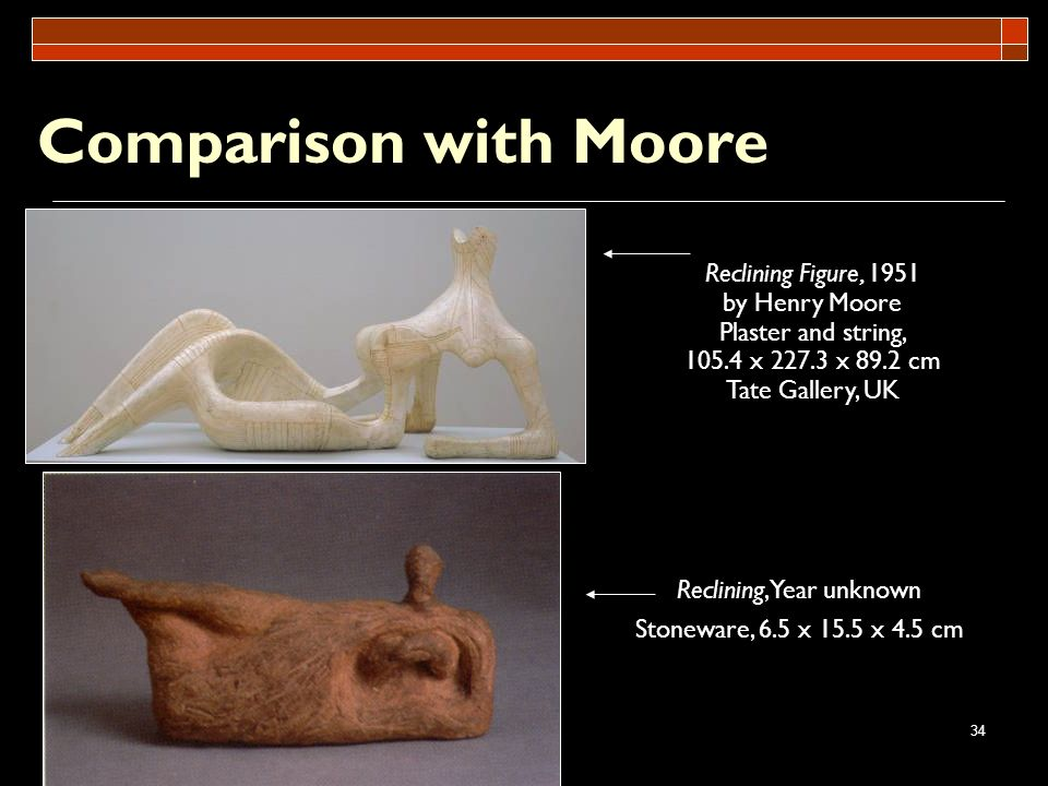Comparison with Moore Reclining Figure, 1951