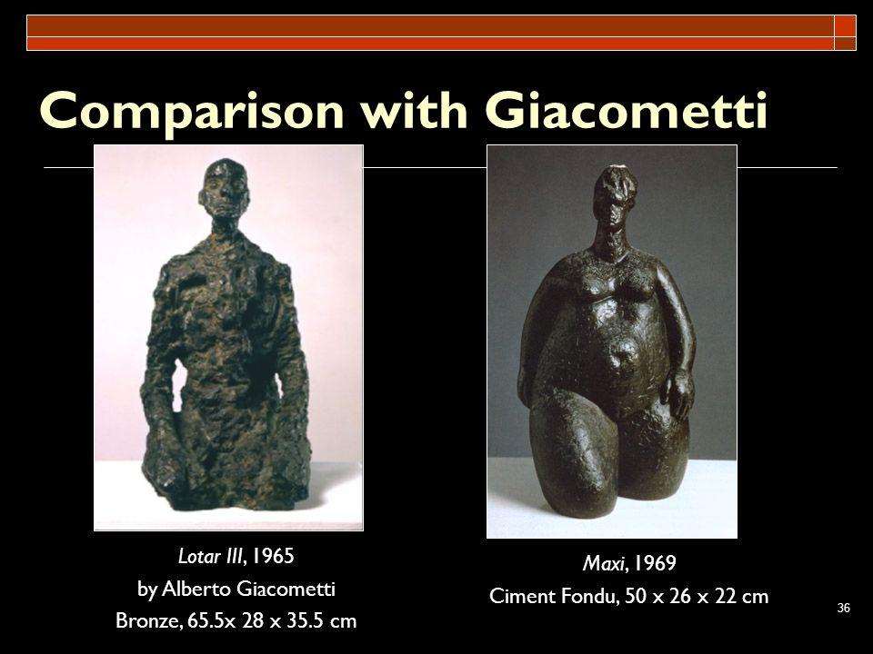 Comparison with Giacometti
